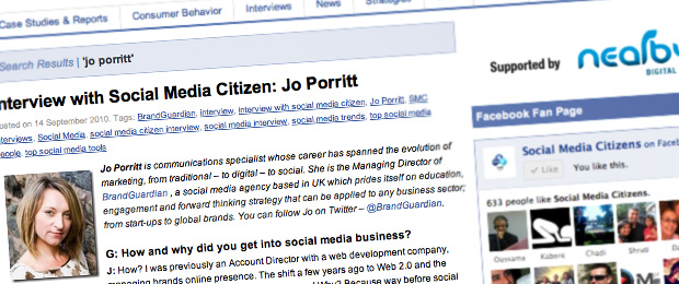 Jo Porritt - Social Media Citizens Interview