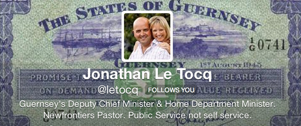 SOCIAL GOES LOCAL: JONATHAN LE TOCQ, DEPUTY CHIEF MINISTER, STATES OF GUERNSEY