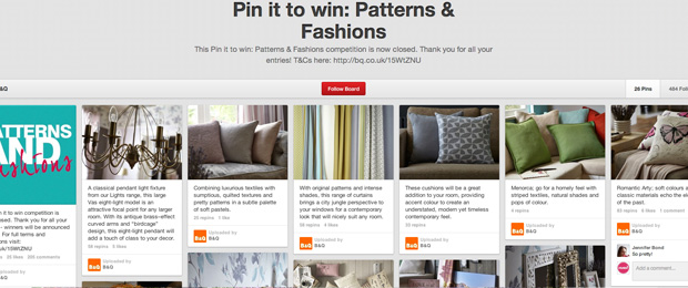 Pinterest Pin It To Win Competition